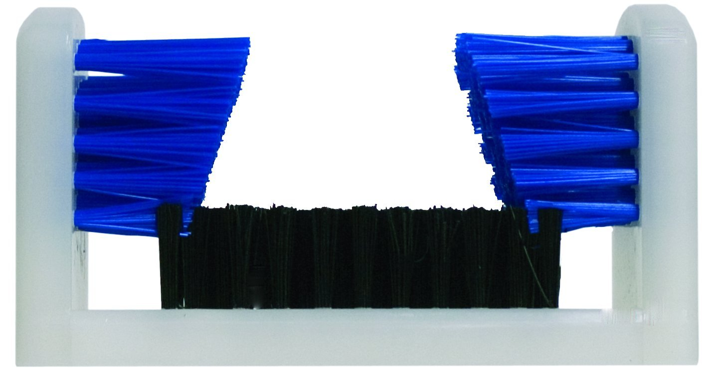 Magnolia Brush SB-1000 Boot and Shoe Brush, Polypropylene Bristles, 9'' Length x 4-3/4'' Width, Black/Blue (Case of 6)
