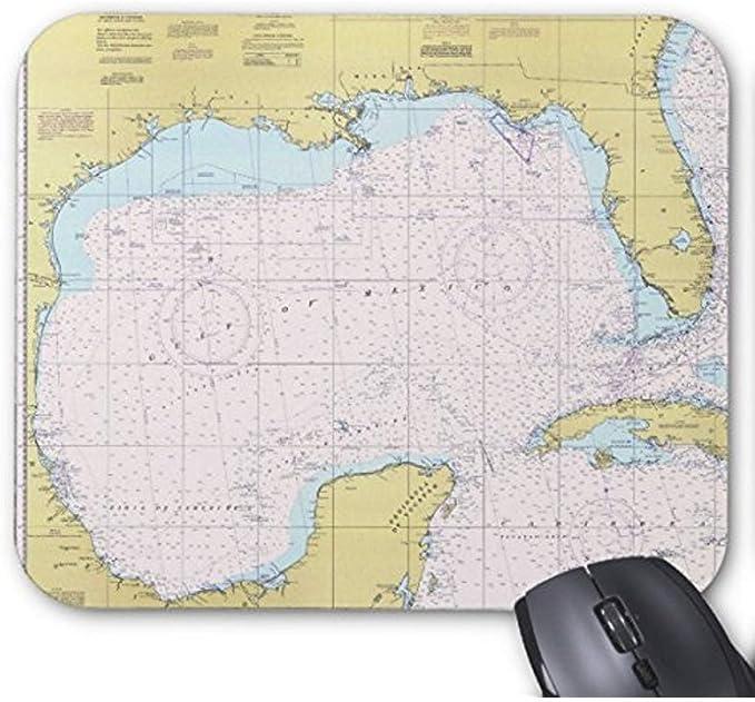 Edmun Mousepad Carta náutica del golfo de México ...