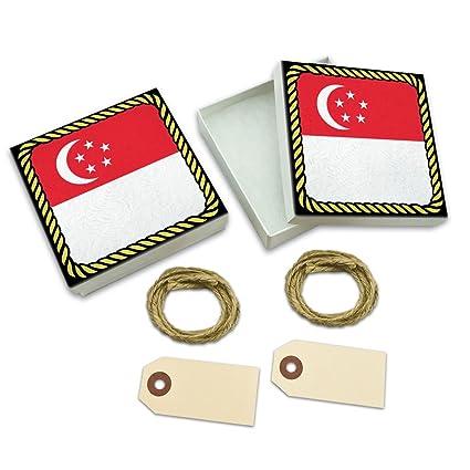 Amazon Com Flag Of Singapore White Gift Boxes Set Of 2 Arts