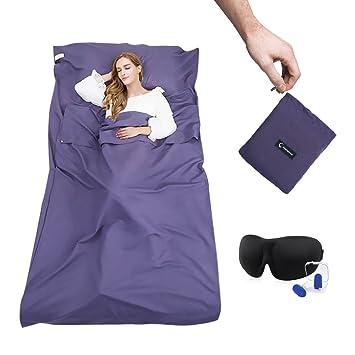 Zahara - Saco de dormir con funda de viaje para viajes, albergues juveniles, picnic