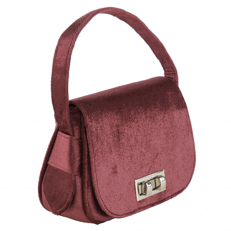 Handtasche, Belina rot, samt - ACACA377SANGRIA Anna Cecere