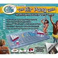 Air Pong The Table, refrigerador inflable para cerveza Pong, mesa flotante para cerveza Pong, 7 pies, vinilo, liviano, portátil, viene con un refrigerador incorporado y racks de plástico gratuitos, por PongHead