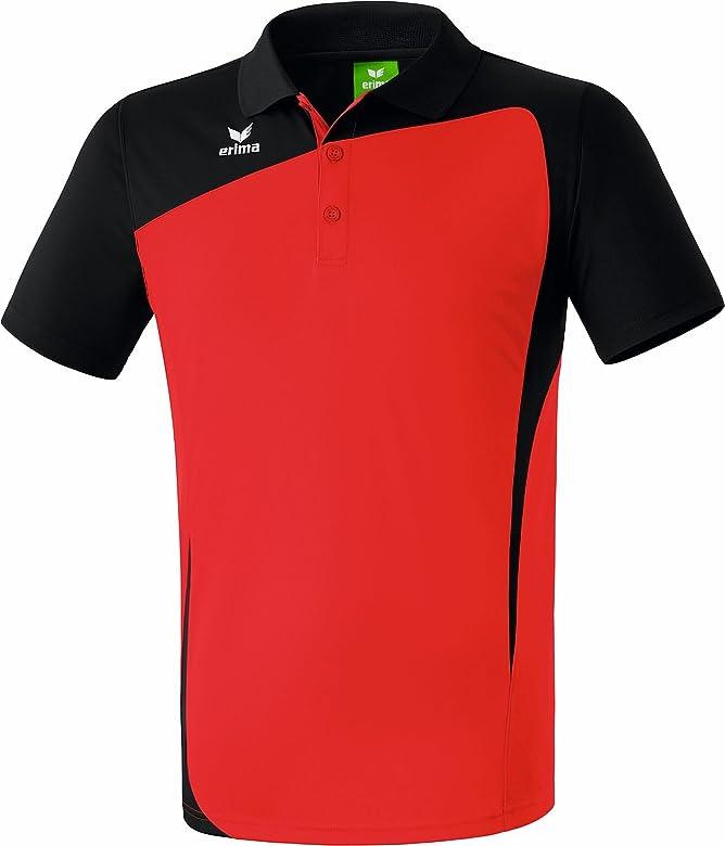 erima Club 1900 Poloshirt para niños, Rojo/Negro, 111332, Gr. M ...