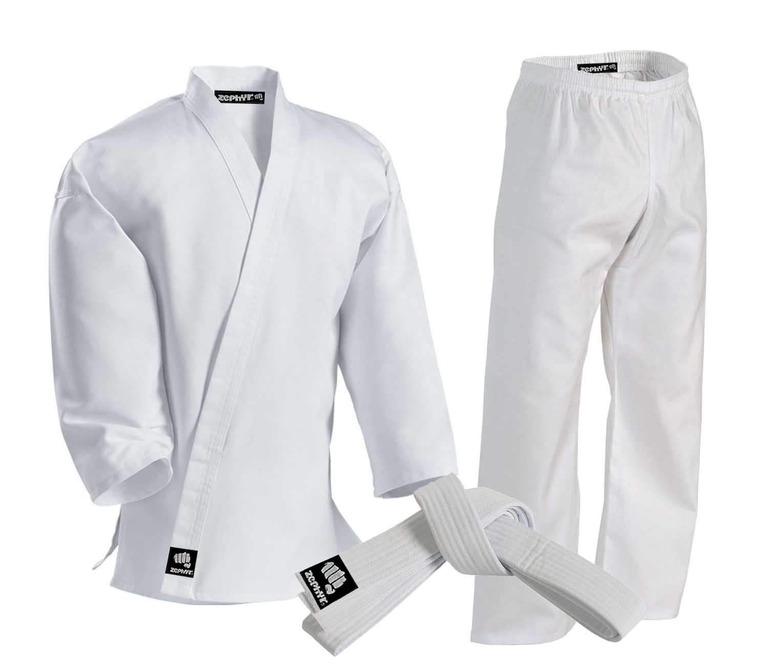 Zephyr Martial Arts Karate Gi Student Uniform with Belt - White - 3 by Zephyr Tactical