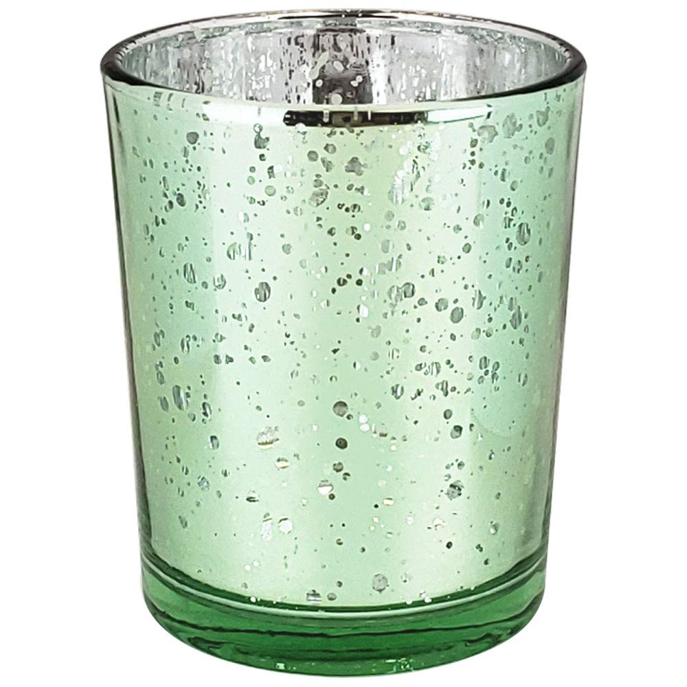 12pcs, Speckled Mint Parties and Home D/écor -Mercury Glass Votive Tealight Candle Holders for Weddings Just Artifacts Mercury Glass Votive Candle Holder 2.75 H