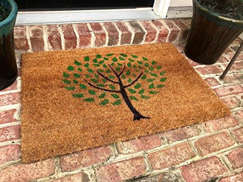 Natural Coir Non Slip Tree Floor Entrance Door Mat Indoor/Outdoor (24 X 48)