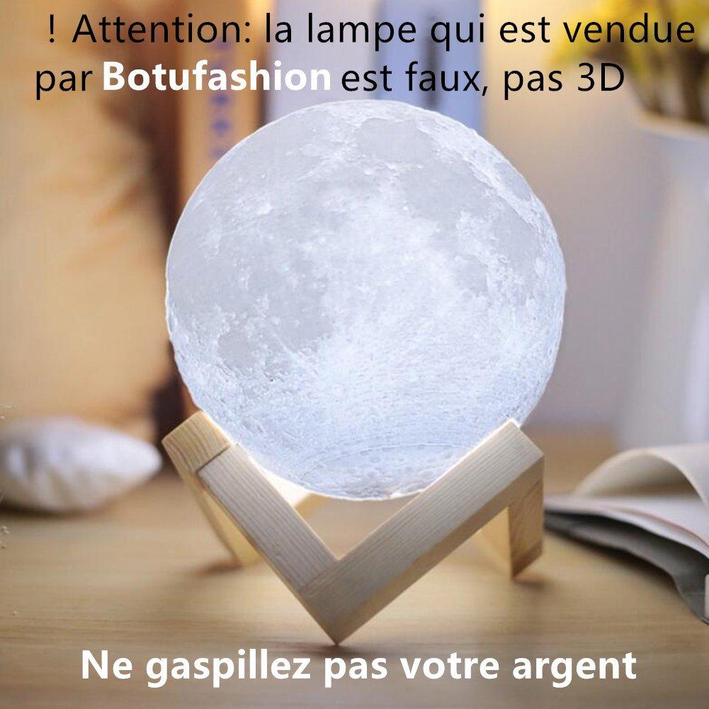 Lampe 3D lune tactile (avec un joli emballage) cadeau créatif lampe de nuit lampe art deco lampe veilleuse pour maison chambre bureau salon avec USB(12CM-mieux pour l\'enfant)