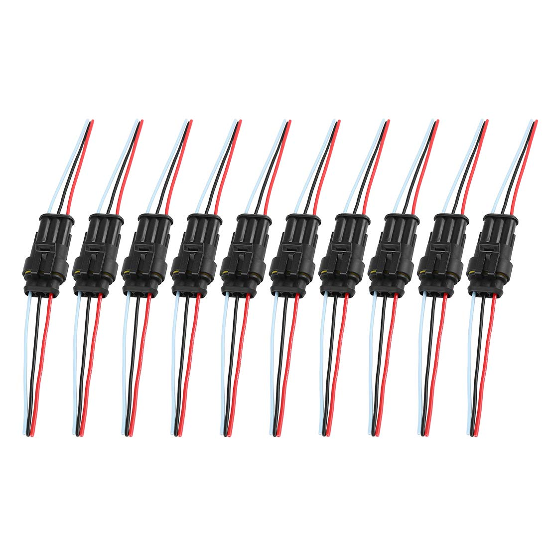 X AUTOHAUX 4 Pins Way Car Waterproof Electrical Wire Cable Connector 10pcs