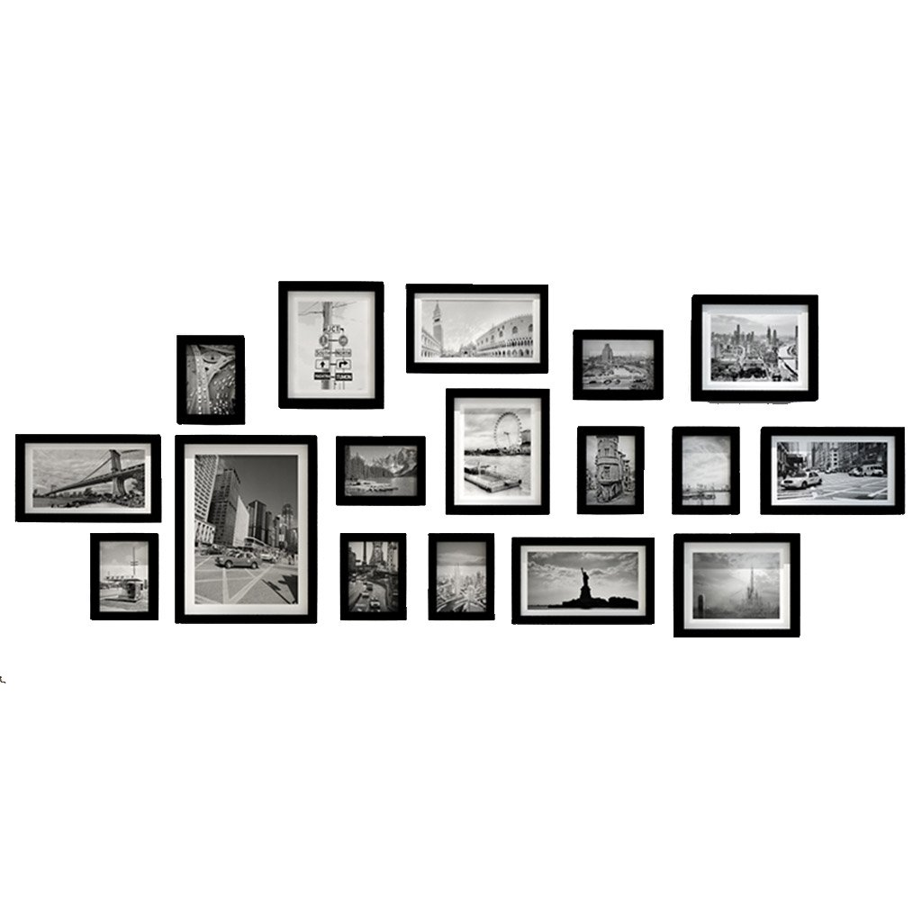 Photo Wall ZYANZ Irregular Frame, Multi Picture Photo Frame Set, Wall Frame Set,Home And Wall Decorations, Vintage Picture Frames