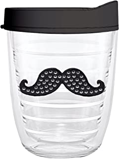 product image for Smile Drinkware USA-MUSTACHE 12oz Tritan Insulated Tumbler With Lid and Straw