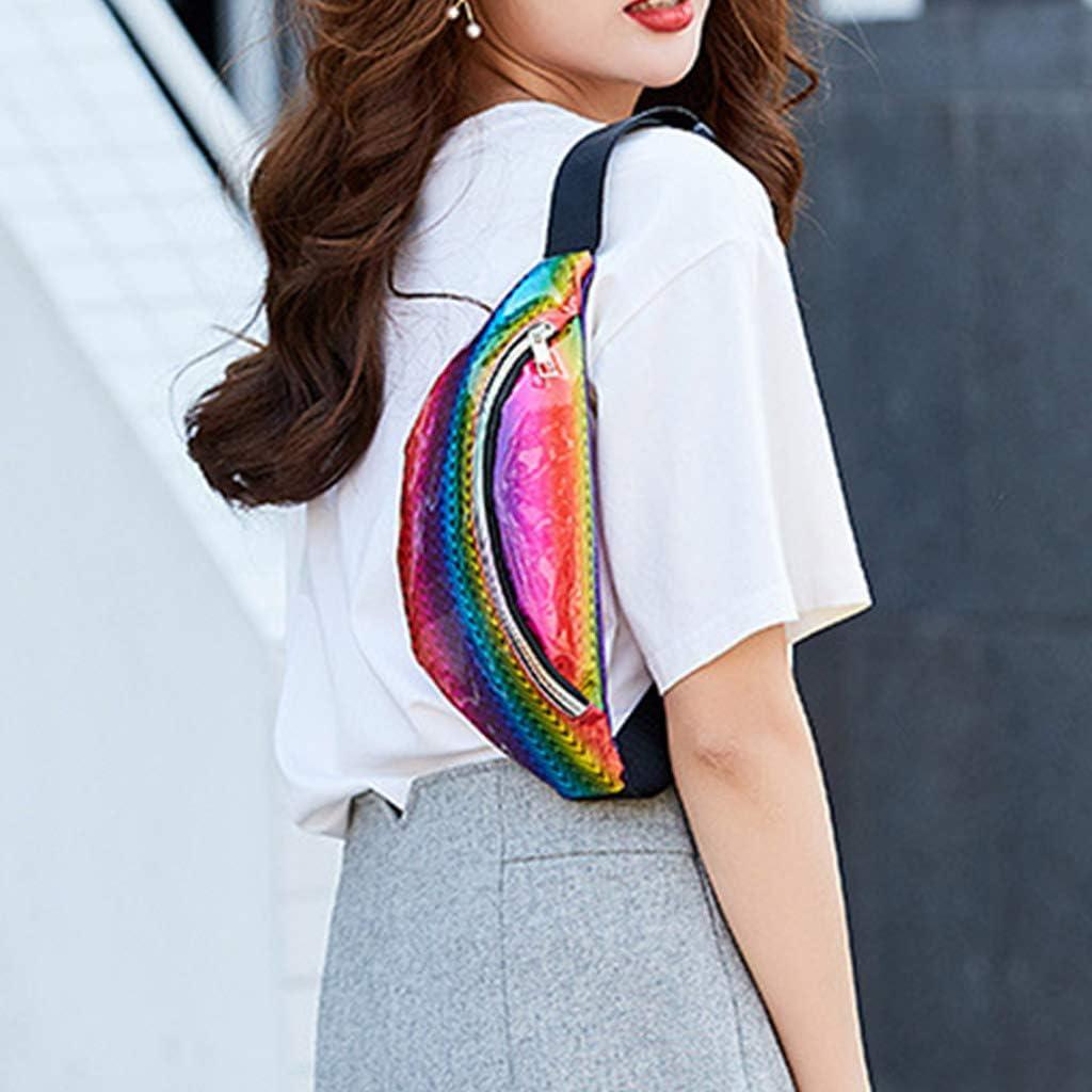 jinetor Fashion Women Waist Fanny Pack Belt Bag Pouch Travel Hip Bum Shoulder Bags-1