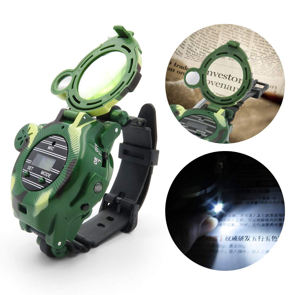 Kids Walkie Talkies, XHAIZ Long Range Walky-Talky Watch for Kids, Cool Outdoor Gifts For Boys and Girls by XHAIZ (Image #4)