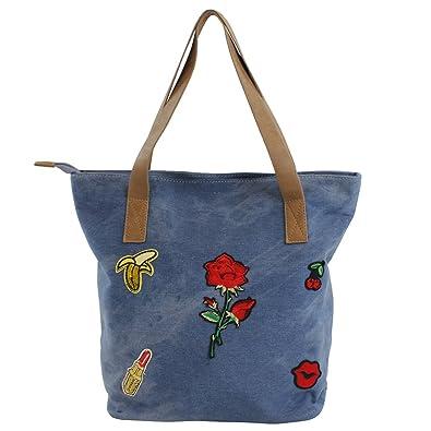 f73d3ee29 Bluebags Lona Vaquera con Emojis, Shopper para Mujer, Jeans, Unica:  Amazon.es: Zapatos y complementos