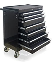 US PRO BLACK TOOLS AFFORDABLE STEEL CHEST TOOL BOX ROLLER CABINET 7 DRAWERS