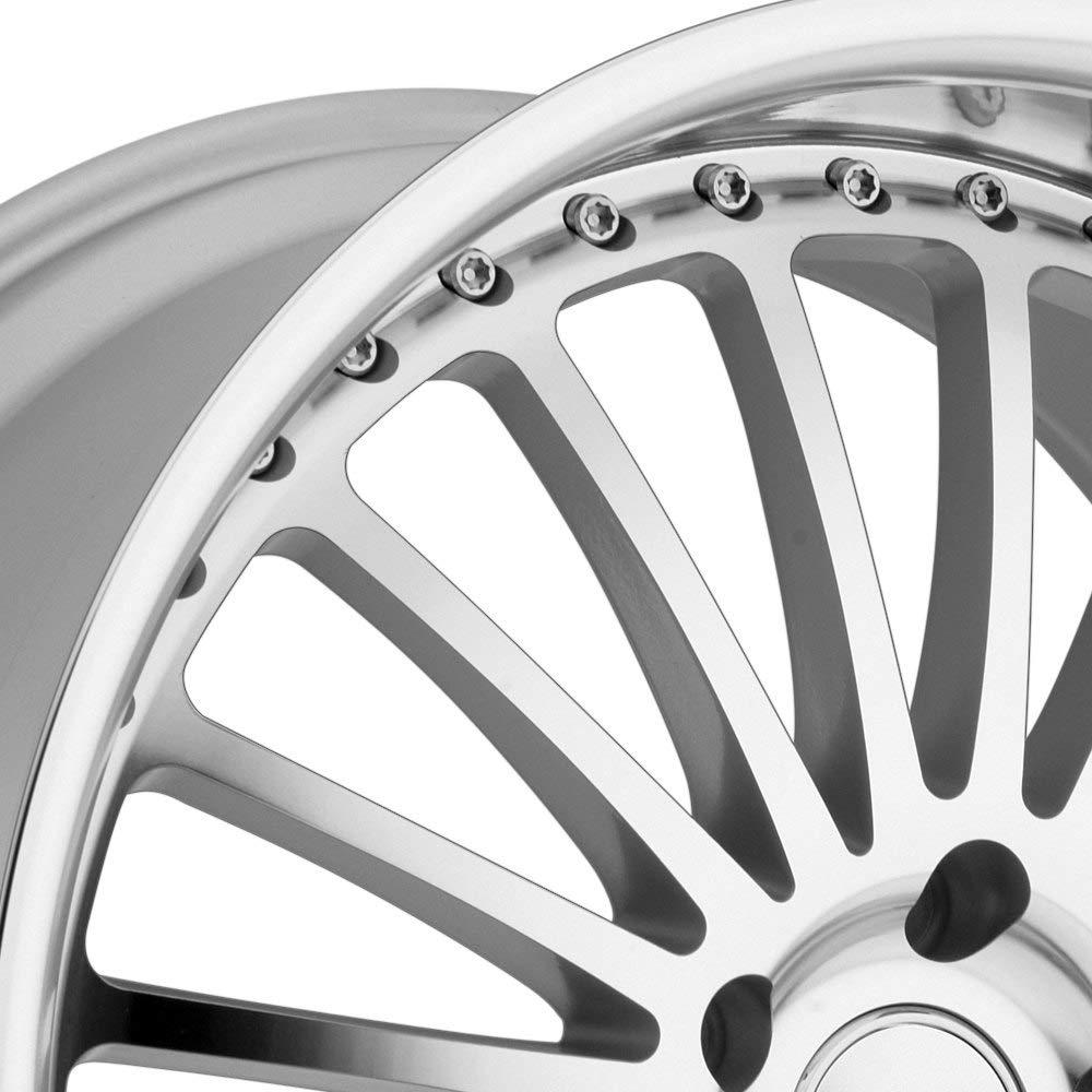 19x8//5x114.3mm TSW Silverstone Silver Wheel with Machined Lip