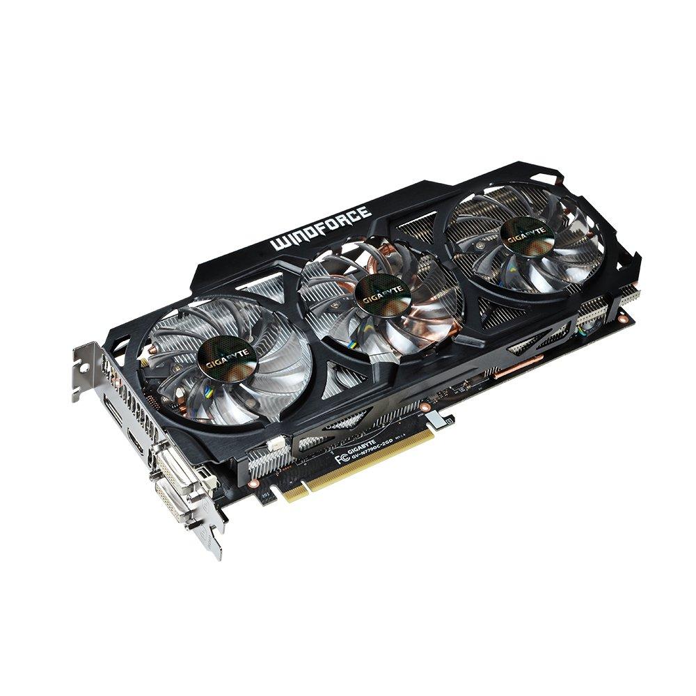 Gigabyte GTX 770 GDDR5-4GB 2xDVI/HDMI/DP OC WINDFORCE 3X Graphics Card (GV-N770OC-4GD)