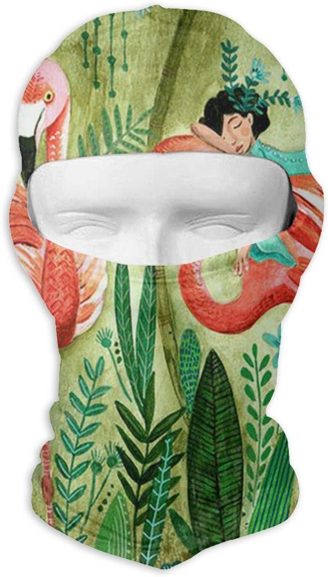 LaoJi Flamingo Winter Ski Mask Balaclava Hood Wind-Resistant Face Mask