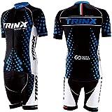 TRINX(トリンクス) サイクルジャージ 自転車ウェア ブラックxブルー 上下セット XXXLサイズ tf16-xxxl XXXL