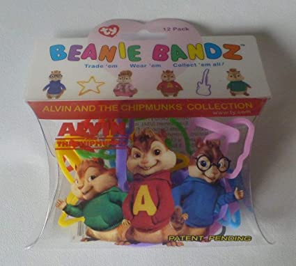 TY Alvin and The Chipmunks Beanie Bandz a Pack of 12