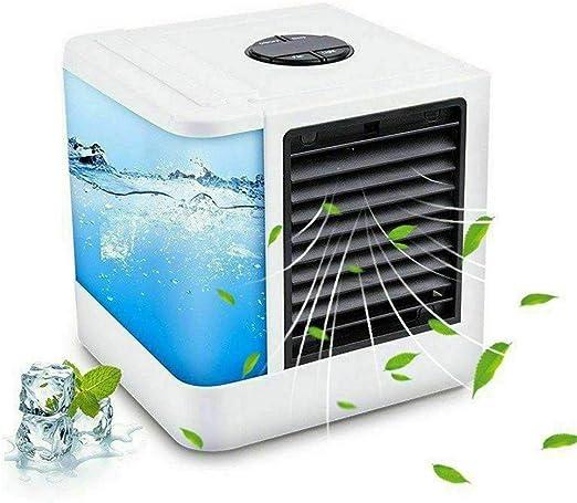 JFJL Ventilador del Acondicionador De Aire, Humidificador con Purificador De Aire con Purificador De Aire USB Pequeño Y Personal con Luces LED, Enfriador De Aire Enfriador De Ventilador De Escritorio: Amazon.es: Hogar