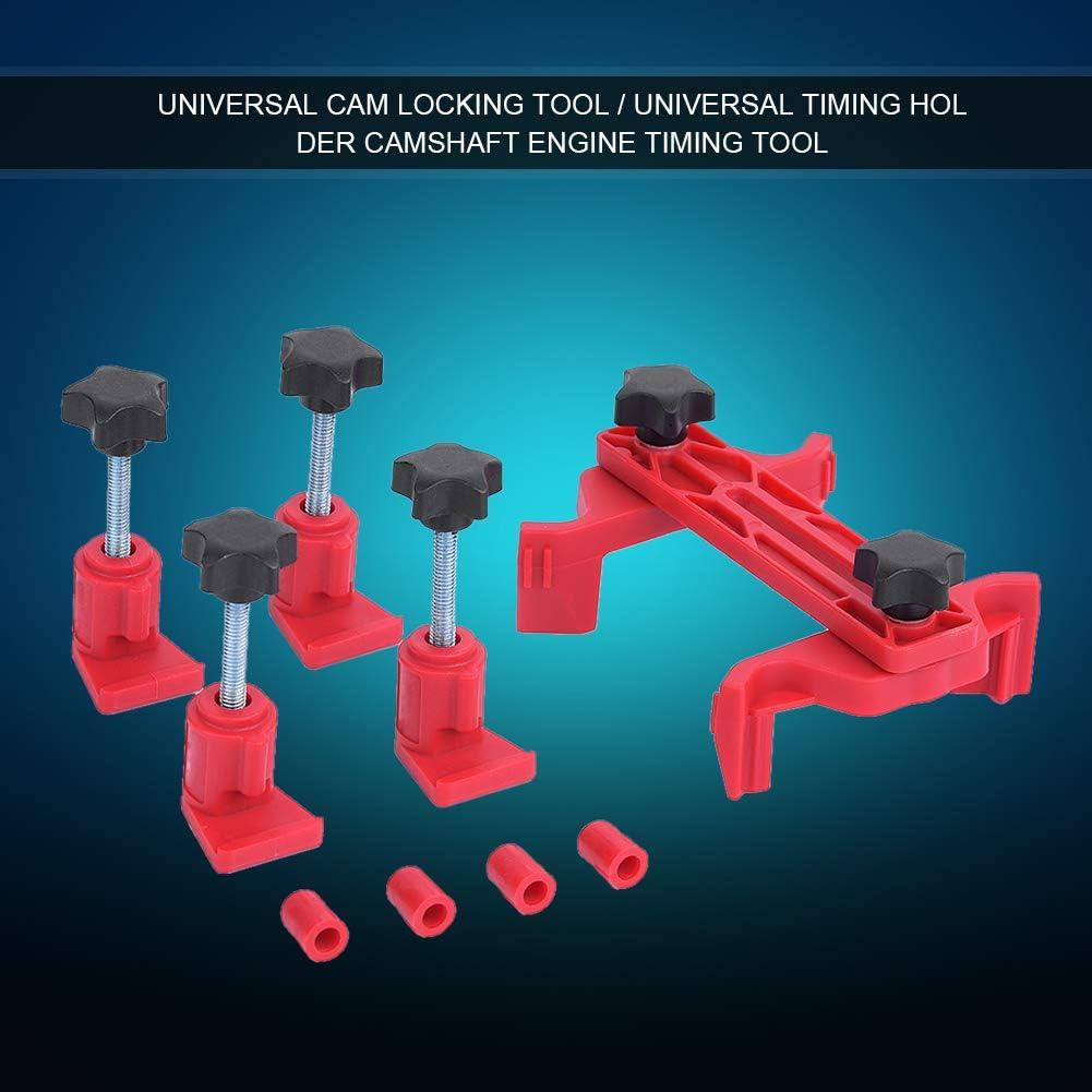 kit de herramienta de bloqueo de /árbol de levas de abrazadera de leva doble Juego de herramientas de sincronizaci/ón de motor de engranaje de pi/ñ/ón autom/ático universal para coche 5pcs//set