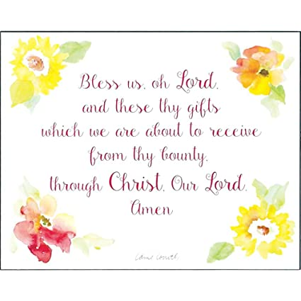 amazon com dicksons bless us oh lord watercolor floral bright