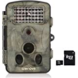 "Crenova 12MP 1080P HD Game & Trail Hunting Camera Night Vision up to 65ft with 42pcs 940nm IR LEDs and 120 Wide Angle, 2.4"" LCD Display,0.6s Trigger Time Game Camera(Camera+16GB Card)"