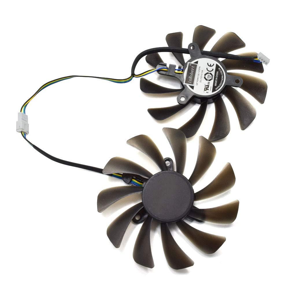 inRobert DIY Graphic Card Cooler Fan for ZOTAC GeForce GTX 1080 Ti AMP Edition GPU ZT-P10810D-10P by inRobert