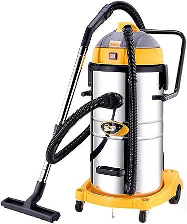 TY-Vacuum Cleaner MMM@ Aspirador seco y húmedo Aspirador Barril Industrial de Alta Potencia 1800 W Hotel de alfombras Fregadero de Coches Taller de fábrica Taller 60 L Capacidad Grande Seca y húmeda:
