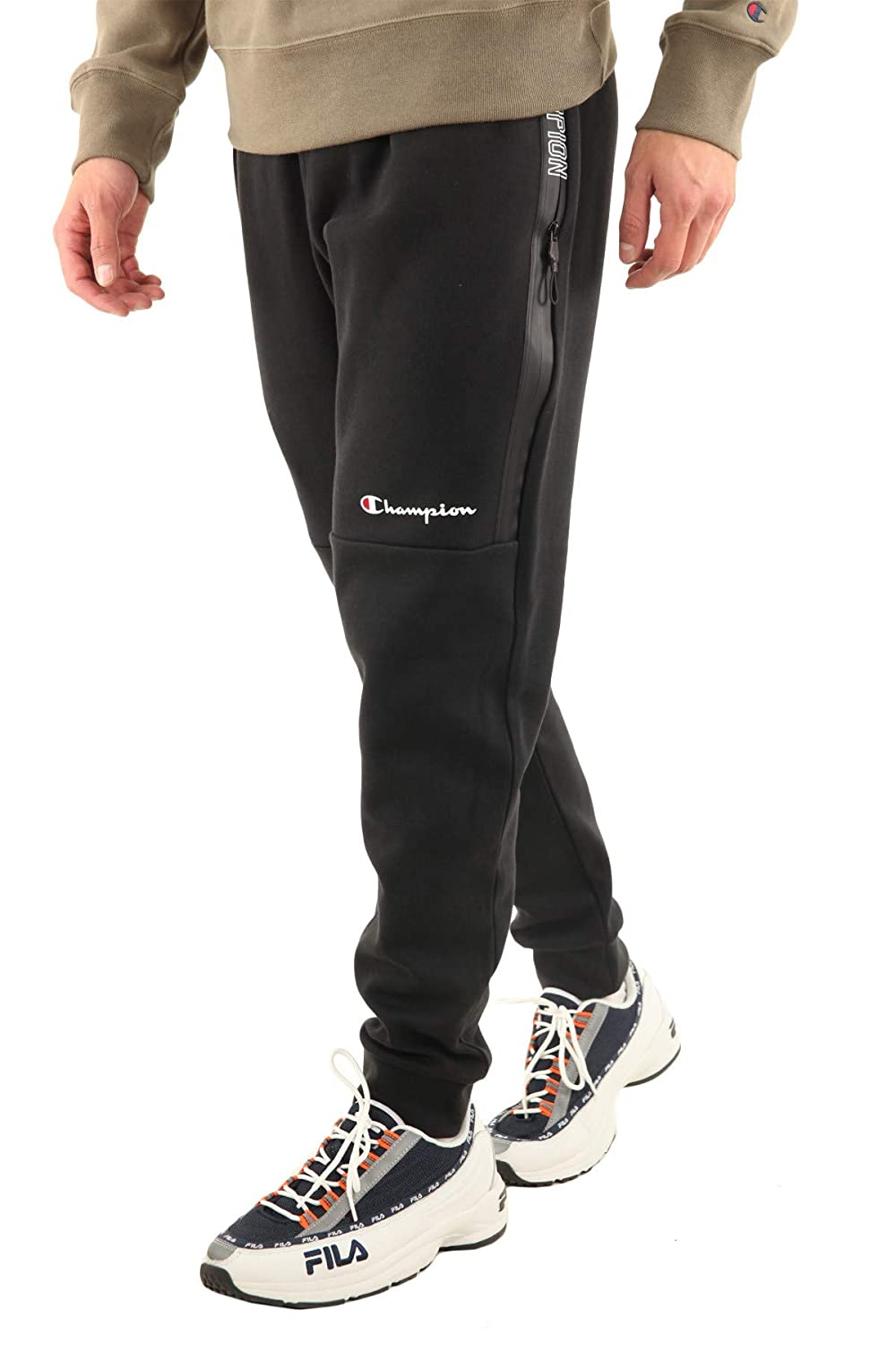 Champion Mens Rib Cuff Joggers Black