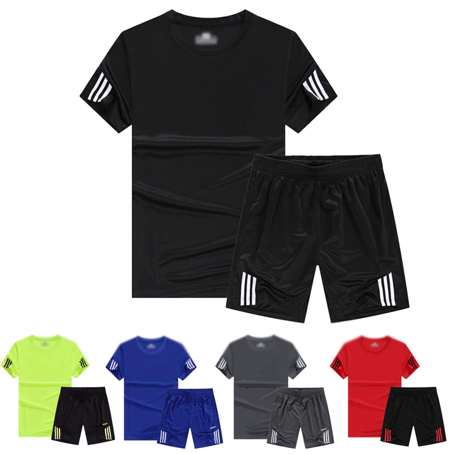 Amazon.com: Men Sport Running Sets, Soccer Training Tracksuits Jersey Fitness Sportswear Gym Sports Sets Soccer Jerseys: Clothing