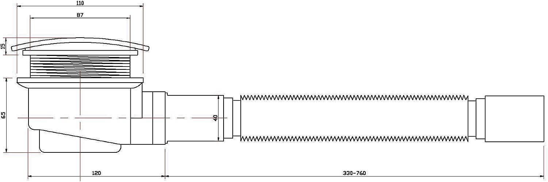 Mampara de - 90 x 195 cm Cabina de ducha ZEUS - 8 mm - con ducha + ...