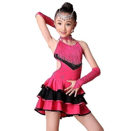 Vestido de niña pequeña tutu Vestido de baile latino sin mangas ...