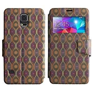 LEOCASE modelo lindo Funda Carcasa Cuero Tapa Case Para Samsung Galaxy S5 I9600 No.1004950