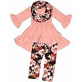 Unique Baby Girls 3 Piece Floral Legging Sets