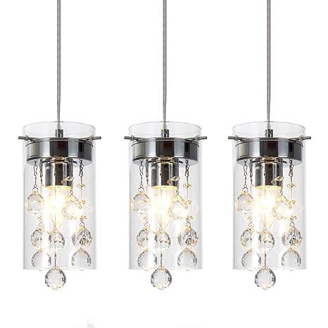 decorative pendant lighting. Wtape 3-Light Glass \u0026 Crystal Chandelier Pendant Light, Decorative  Lighting For Kitchen Decorative Pendant Lighting T