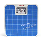 Belita Square Display Large Surface Personal Analogue Weighing Scale Up to 120 Kg (Multicolour)