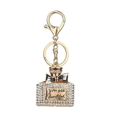 Botrong - Llavero de aleación de diamantes de imitación con ...