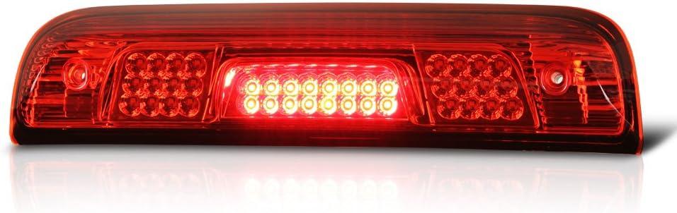 Red Lens for 2014-2018 Chevrolet Chevy Silverado//GMC Sierra 3rd Third Brake Light Tail Lamp High Mount Cargo Lights