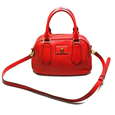 fdd580b9d3b1 Image Unavailable. Image not available for. Color  Marc By Marc Jacobs  Rosey Red Leather Satchel  Crossbody Bag ...