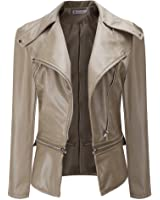 TOPUNDER - Apparel Women Winter Warm Faux Collar Short Coat Leather Jacket Parka Overcoat Outwear by TOPUNDE