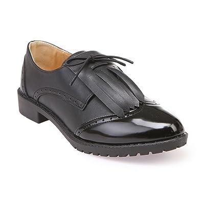 La Modeuse - Derbies Femme bi-matière  Amazon.fr  Chaussures et Sacs 740b8c8c769c