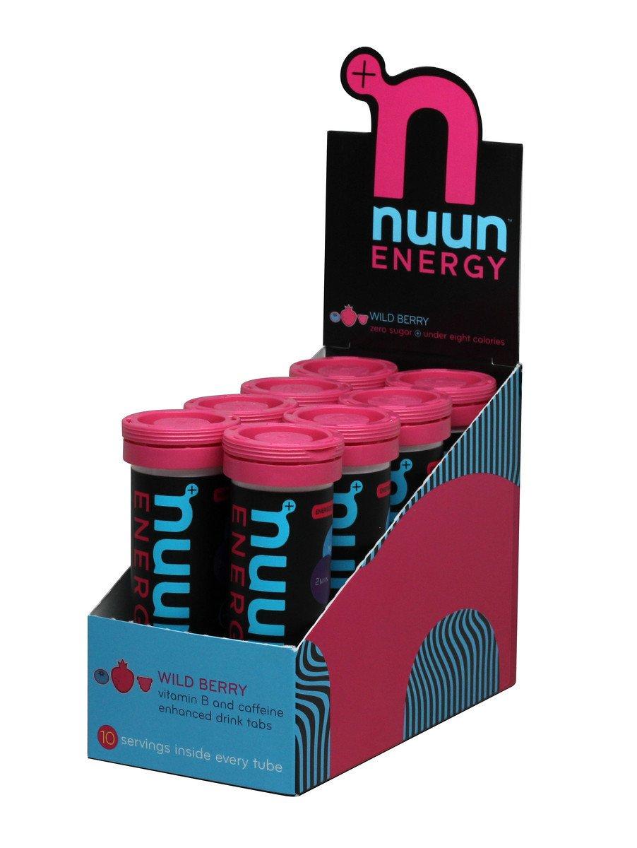 Nuun Energy: Past Formula Vitamin & Caffeine Enhanced Drink Tabs, Wild Berry, Box of 8 Tubes