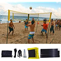 Singa-Z Sports Four Square Volleyball Net, Portable Training Net with Poles, for Beach Outdors Backyard