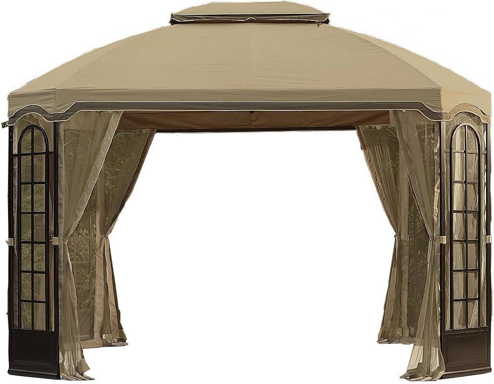 Garden Winds Replacement Canopy for Terrace Gazebo - Standard 350 - Beige