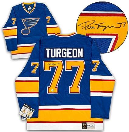 Pierre Turgeon St. Louis Blues Autographed Fanatics Vintage Jersey ...