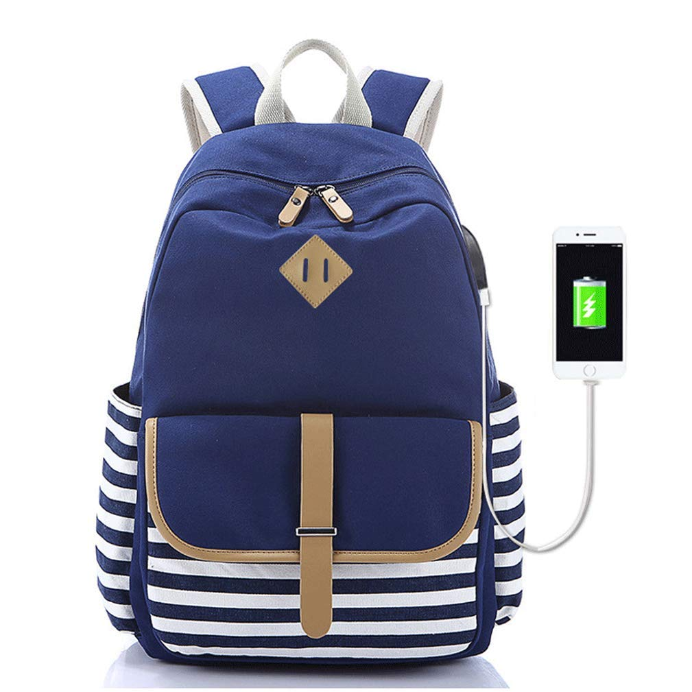 Amazon.com: Double Shoulder Bag Striped College Wind Travel bag Computer bag Travel bag Student bag: Shoes