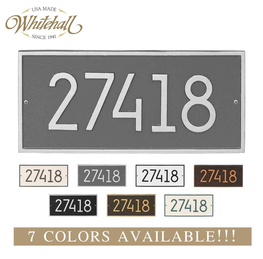 Metal Address Plaque Personalized Cast The Modern Hartford. Display Your Address and Street Name. Custom House Number Sign.