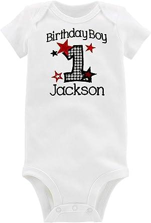 My First 1st Birthday Baby Kids Body Suit Vest Boy longsleeve Glitter