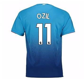 40cf75c38a9 2017-2018 Arsenal Away Football Soccer T-Shirt (Mesut Ozil 11) - Kids   Amazon.co.uk  Sports   Outdoors
